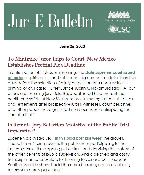 Jur-E Bulletin preview